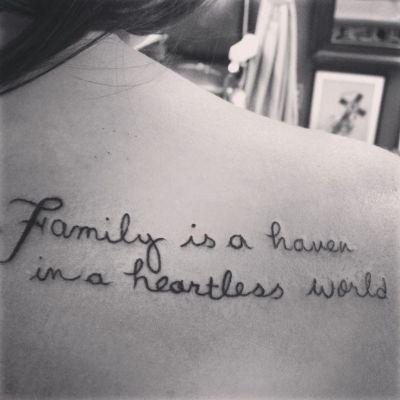 Family Quote Tattoo Sayings