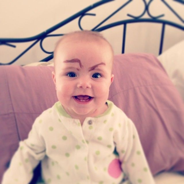 #funny #baby #eyebrows
