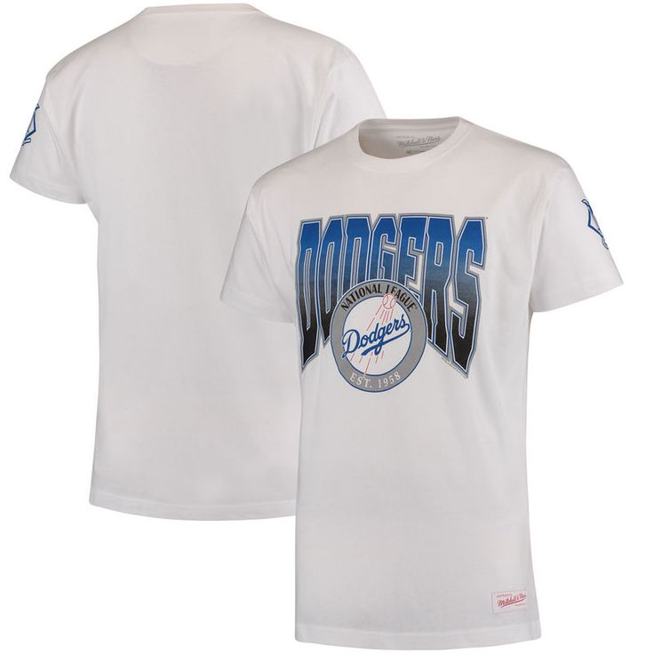 Los Angeles Dodgers Mitchell & Ness Play By Play Traditional T-Shirt - White