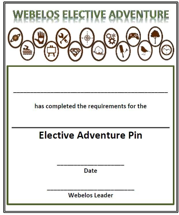 Pin On Cub Scouts Immediate Recognition Certificates For