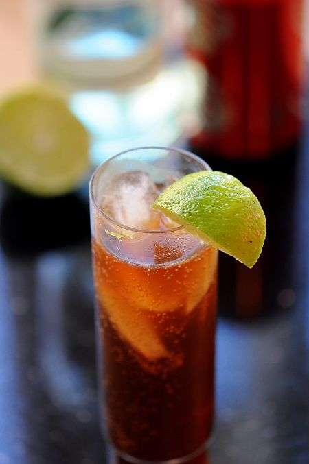 Cuba Libre = Rum and Coke with Lime.  For camping, use that more natural soda (instead of diet Coke, maybe) and put it in a mason jar with Parmesan shaker lid to keep bugs out.  Then it will be a low-calorie camping cocktail.