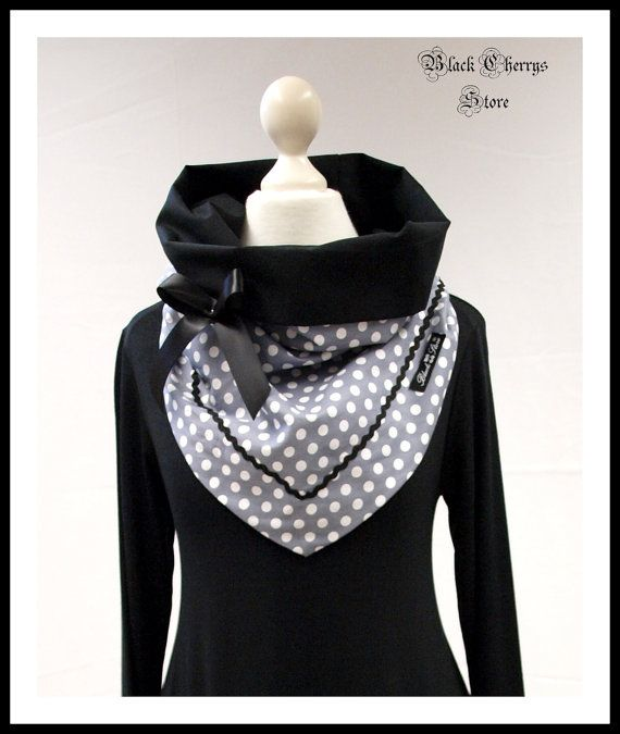 Collar Scarf Loop Vintage Retro Rockabilly von BlackCherrysStore