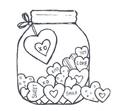 valentine's day jar full of notes