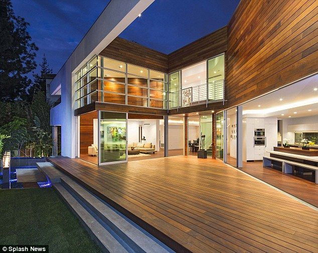 Green: The home is said to be partially solar powered and runs on green energy
