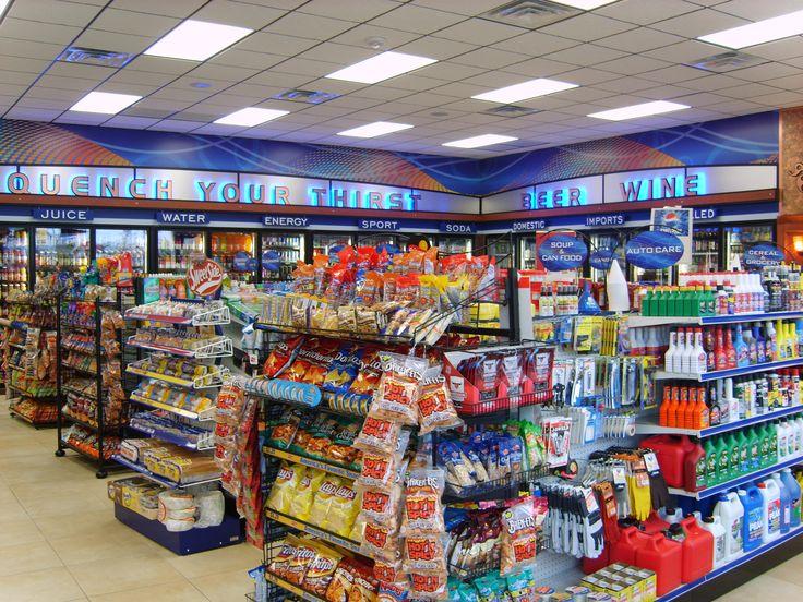 convenience store petrol kiosk