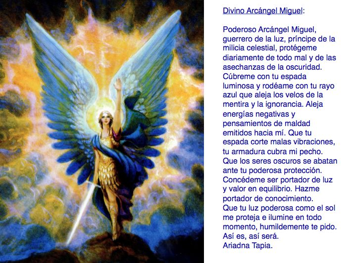 Oración al Arcángel Miguel.