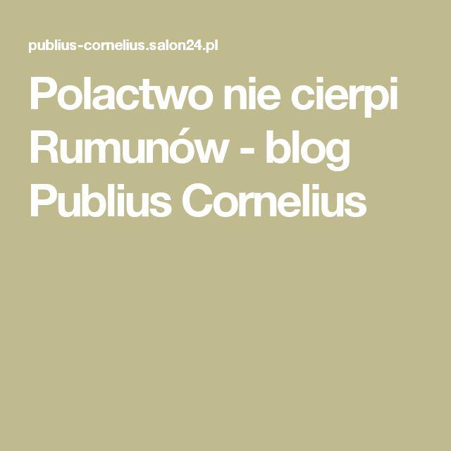 Polactwo nie cierpi Rumunów - blog Publius Cornelius