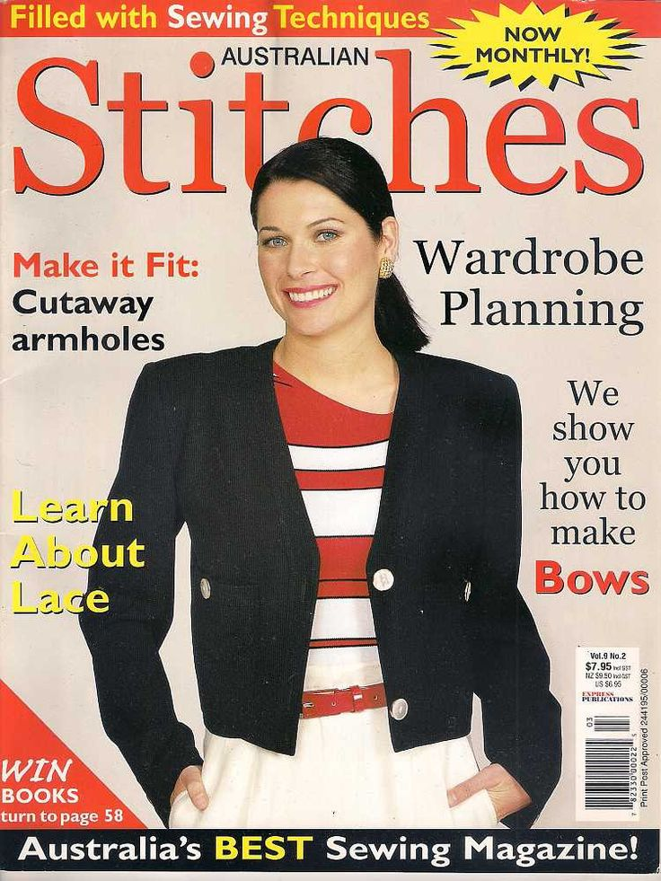 Australian Stitches Magazine vol 9 no 2 2002, sewing magazine, Australian magazine, dressmaking magazine, sewing instructions, sewing how to by Rethreading on Etsy