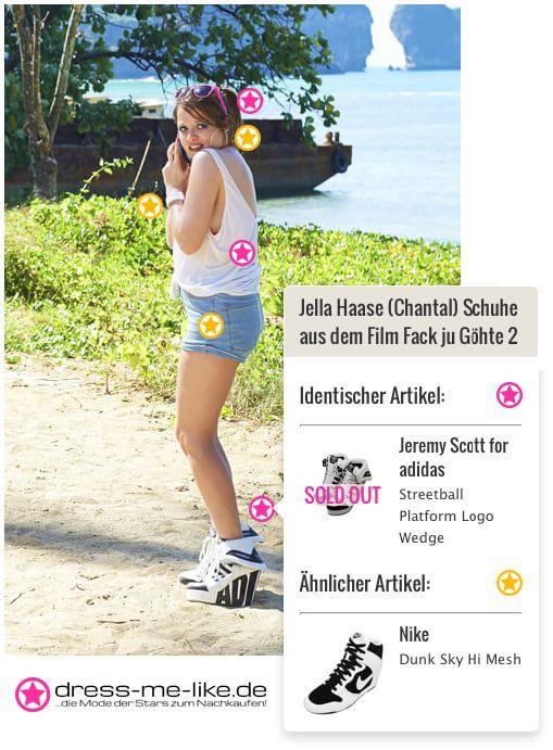 Jella Haase (Chantal) Schuhe (Jeremy Scott for adidas) aus dem Film Fack ju Göhte 2