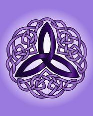 Purple Simple Celtic Trinity Knot Art Print from Ravensdaughter Designs Celtic Art
