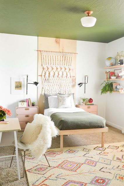25 best ideas about warm bedroom colors on pinterest 17785 | 63153b3be9bf11852f164c7dc398601d plywood headboard boho room