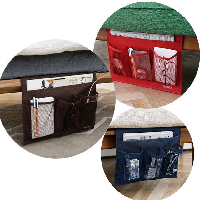 Novelty Home Bedside Pocket Bed Organizer Hanging Bag Phone Holder Book Magazine Table Storage Pouch