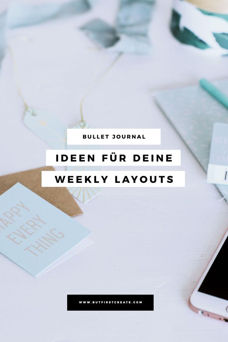 Bullet Journal - Ideen für deine Weekly Layouts   Bullet Journal Weekly Layouts Ideas   Weekly Spreads