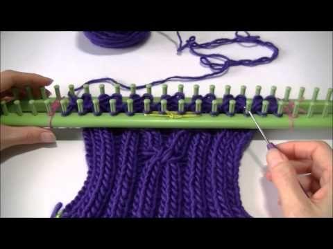Sjaal met kabels (dubbel breien)