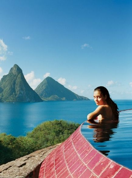 Jade Mountain St. Lucia, Soufriere, St. Lucia...if not for bad planning, we would be here in a couple of weeks.   :-( I love St. Lucia!
