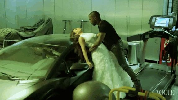 This scene of complete and utter PASSION. | 11 Moments Of Pure Love In KimYe's Vogue Photo Shoot