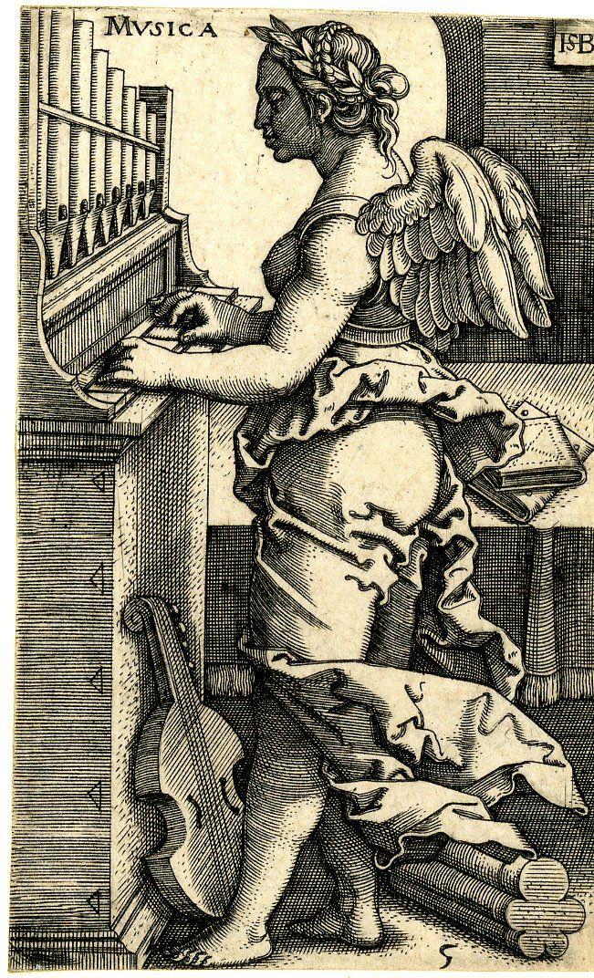 The Seven Liberal Arts; Sebald Beham (Print made by); Plate 5: Music 1531-1550 - PInterest