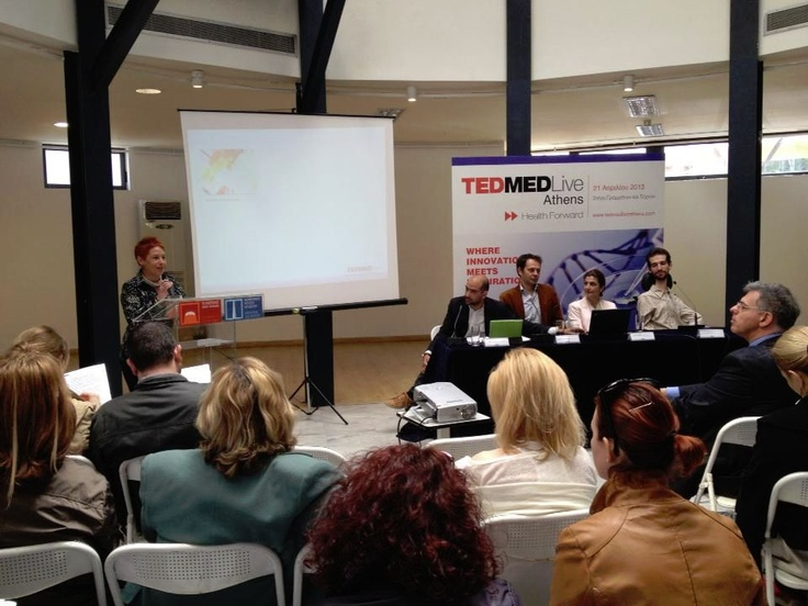 Sophia Dassyra (TEDMED live Athens Team member) spoke about the experiences of TEDMED. The experiences are pararell actions which take place at the same time with the event.