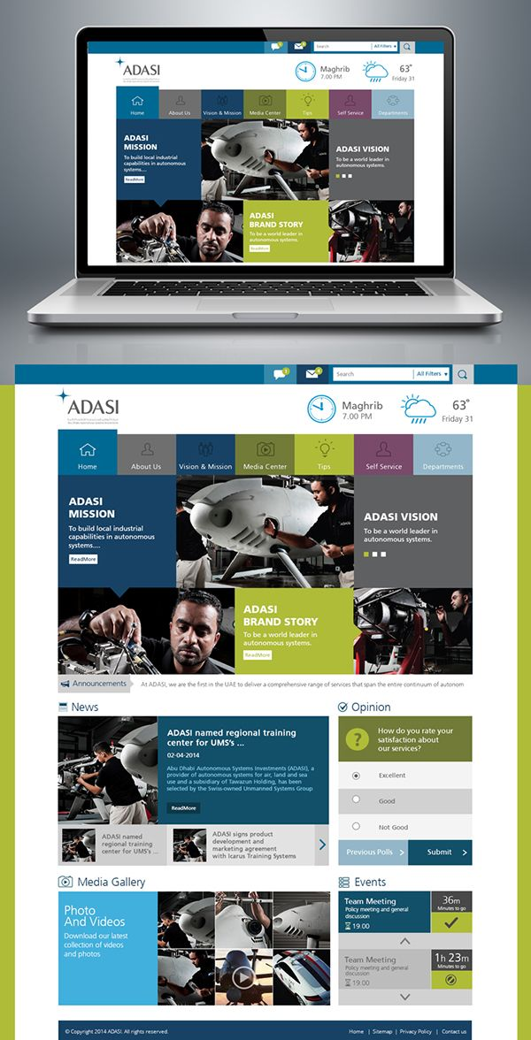 sharepoint intranet portal on Behance