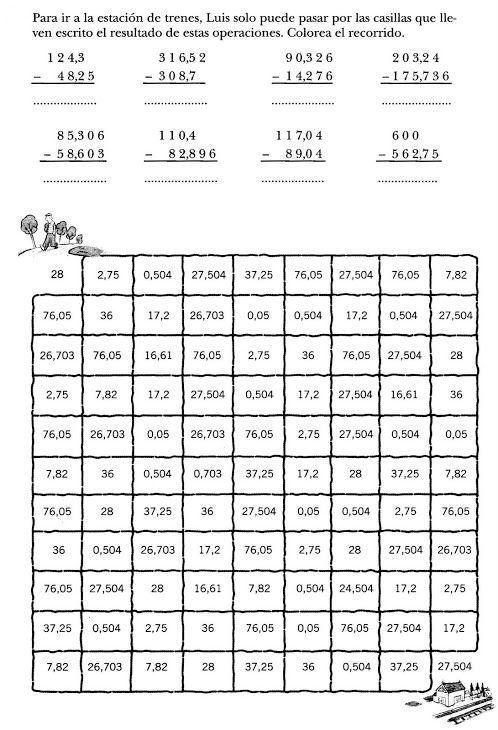 Operaciones con decimales