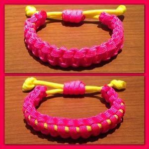Adjustable & Reversible 2 Color Paracord Bracelet by cheri
