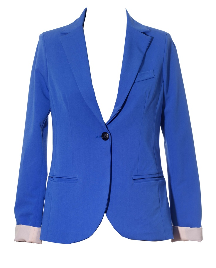 oH Yesss ppPlease!  Just what I have been looking for this shouts classy and i mean business yet the colour pops and will make your outfit vibrant and fun!  - Cuffed jacket by Ronald Sasson