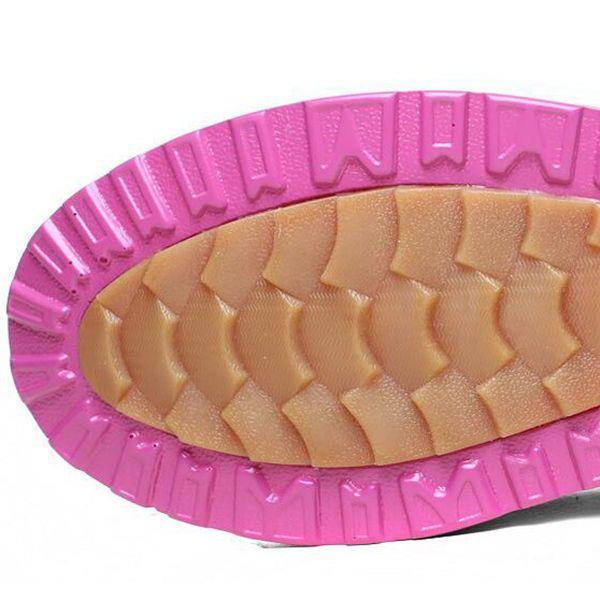 Warm Fur Lining Rocker Sole Platform Boots Women Casual Shoes