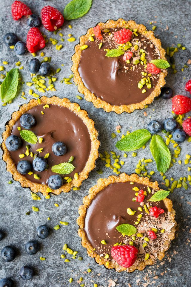 Vegan Chocolate Ganache Torte. A decadent, rich dessert that looks nearly too good to eat. These little tortes are so simple, and so delicious!