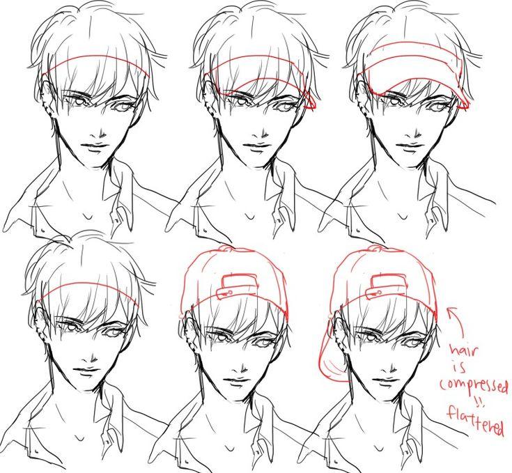 Flower Manga Cap Vagabond Tsukiou: How To Draw A Visor And Backwards Cap