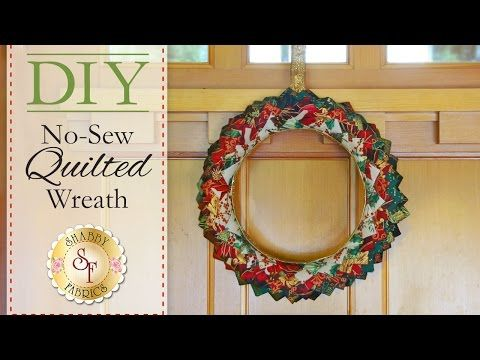 Diy No Sew Quilted Christmas Wreath With Jennifer