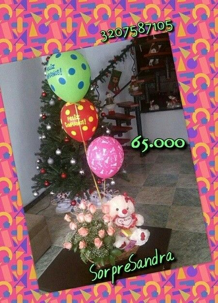 Rosas,peluches,globos,detalles,cumpleaños,anchetas,amor