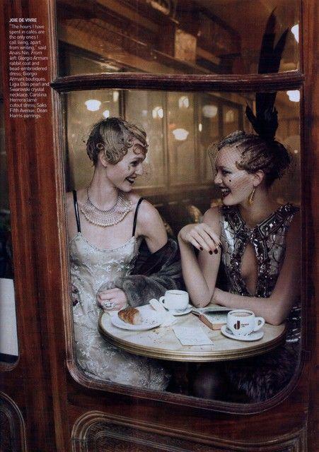 Fabulous: 1920 S, Paris, Teas Time, Fashion, Steven Meisel, Sasha Pivovarova, Gemma Ward, Grace Coddington, 1920S