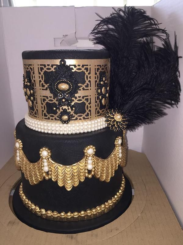 Gorgeous black and gold cake by The Cake Decorating Company made with ...