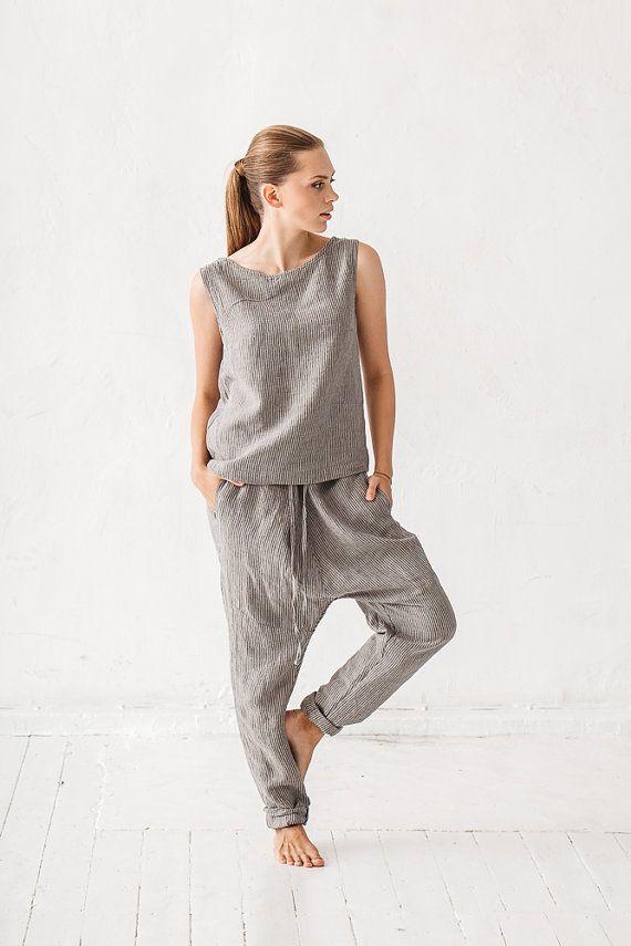 Les 25 meilleures idées de la catégorie Pantalon lin sur ...