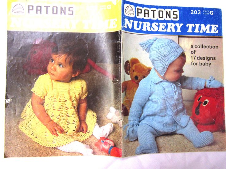 Vintage Knitting Pattern Book Knitting for Baby Patons Nursery Time 203 Leggings Sweater Christening Baptism Gown Crochet Dress Bonnet Mitts by RuthsGreenTreasures on Etsy