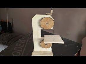 Making a Homemade Bandsaw (drill powered) - El Yapımı Şerit Testere - YouTube