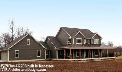 Plan 4122WM: Country Home Plan With Marvelous Porches