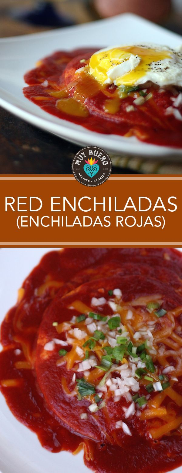 Red Enchiladas (Enchiladas Rojas). These homemade red enchiladas are full of authentic Mexican flavor! With or without a fried egg, you'll find yourself making this recipe time and time again.