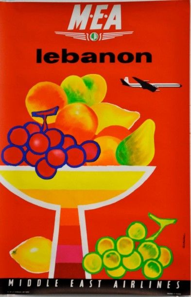 Lebanon • M.E.A.--Middle East Airlines Vers by Jacques Auriac (1960)