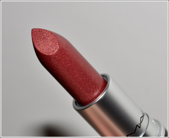 """MAC Sophisto Lip Lustre lipstick. Been wearing this for almost 10 years. A complex """"your lips but better"""" shade somewhere between rose, mauve, and bronze. Sheer enough that you can put it on without a mirror and still look healthy and fabulous."""