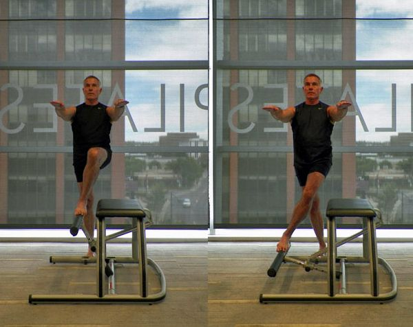Lower Body Workout Challenge on the Pilates Chair: Single Leg Pumps with Crossover