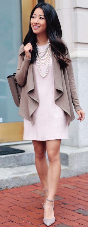 Pink Taupe Fall Inspo by Extra Petite