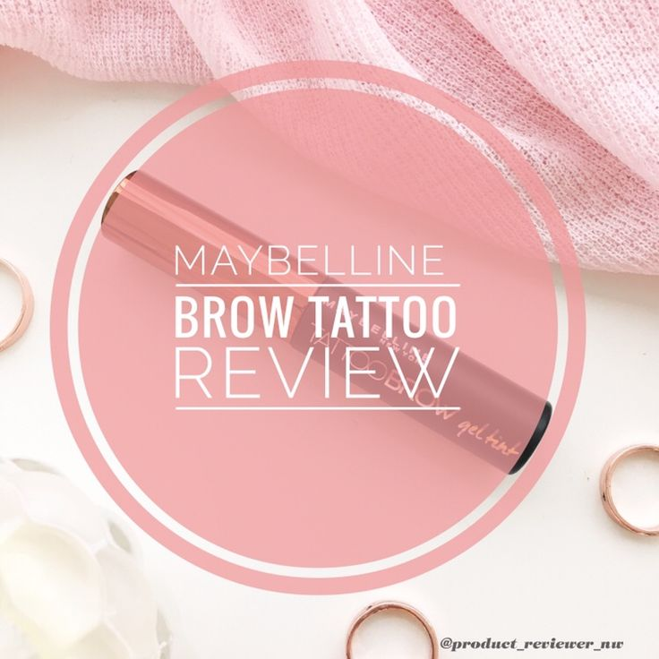 Maybelline Tattoo Brow Review – Product Reviewer NW