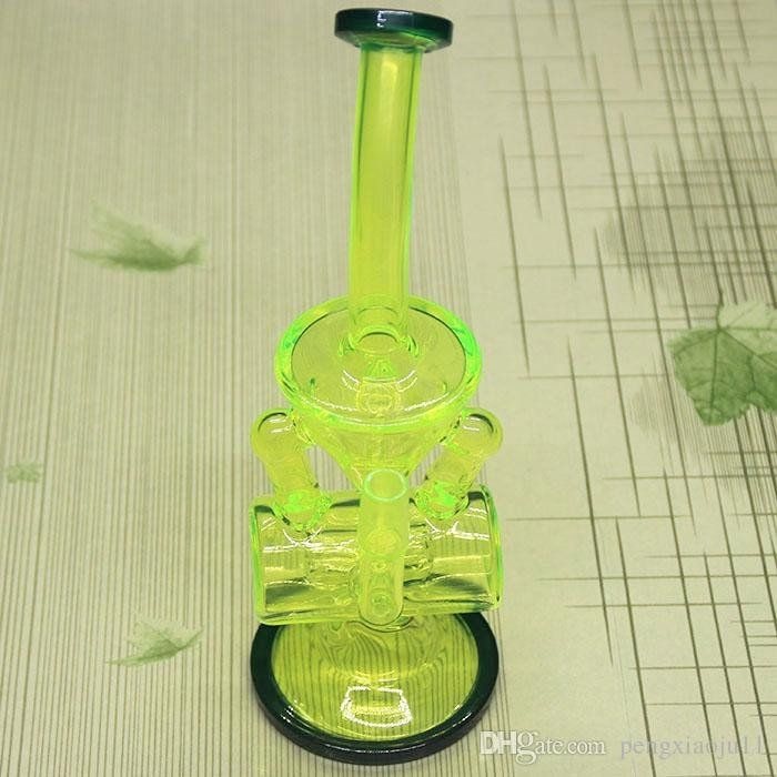 Neon Green Dab Rig WIth Titanium Domeless Nail