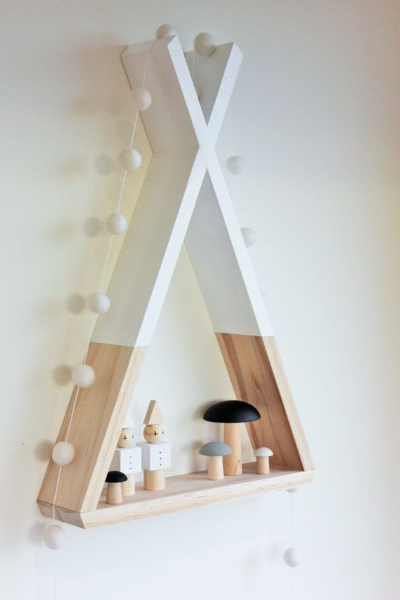 Teepee Shelf Shelves White Tribal Nursery Decor door AhAhOnline