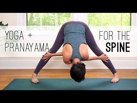 Yoga + Pranayama for the Spine - Yoga With Adriene - YouTube