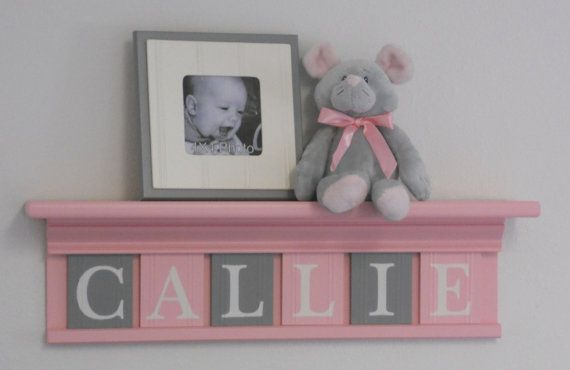 Pastel Pink and Gray  Baby Girl Nursery Decor