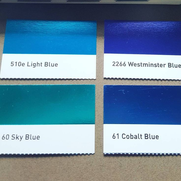 Choosing The Perfect Shade of blue foil....