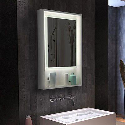 Die besten 25+ Badezimmerspiegel mit beleuchtung Ideen auf ... | {Spiegel mit beleuchtung und ablage 40}