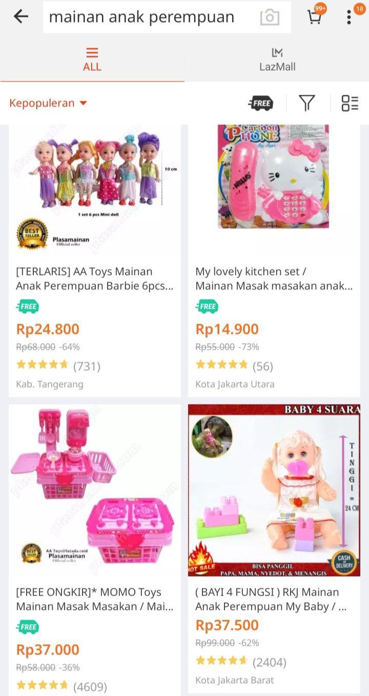 Pin Oleh Deelma Wiantii12 Wiantii12 Di Shopping Di 2020 Mainan Anak Barbie Anak